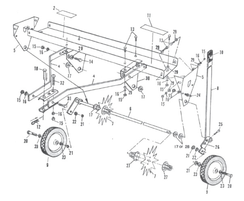 Brinly Aerators Parts