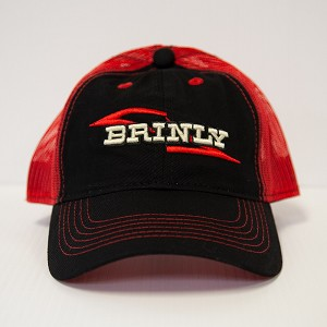 Brinly Red &  Black Baseball Cap